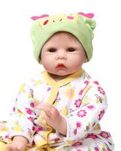 22 Inch 55cm Silicone baby reborn dolls lifelike newborn girl babies toy for child blue princess doll birthday gift brinquedos