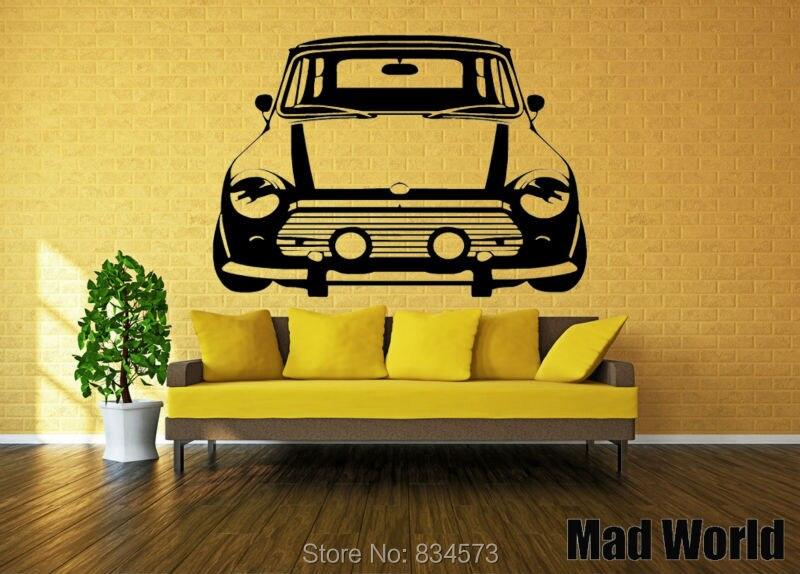 Mad World CLASSIC MINI COOPER Silhouette Wall Art Stickers