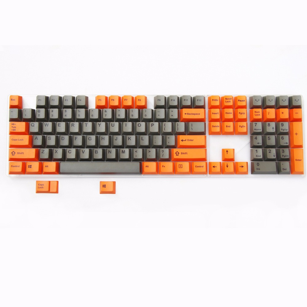 Orange/Grey 108 Keys PBT thick keycap Dye-Sublimated ANSI layout cherry profile MX switch keycap for mechanical gaming keyboard радиоприемник mystery mba 613ub grey orange