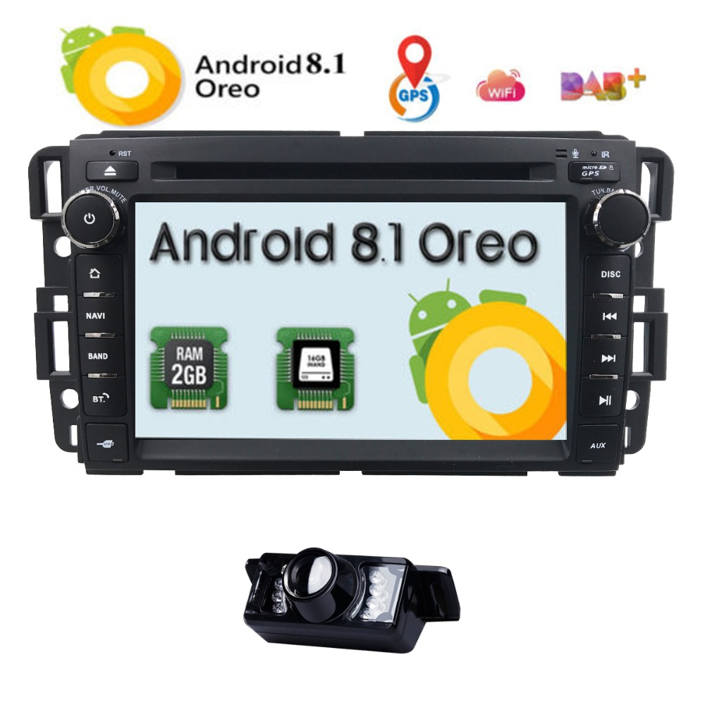 "7"" Android 8.1 Car Stereo Radio DVD Player For GMC Chevy"