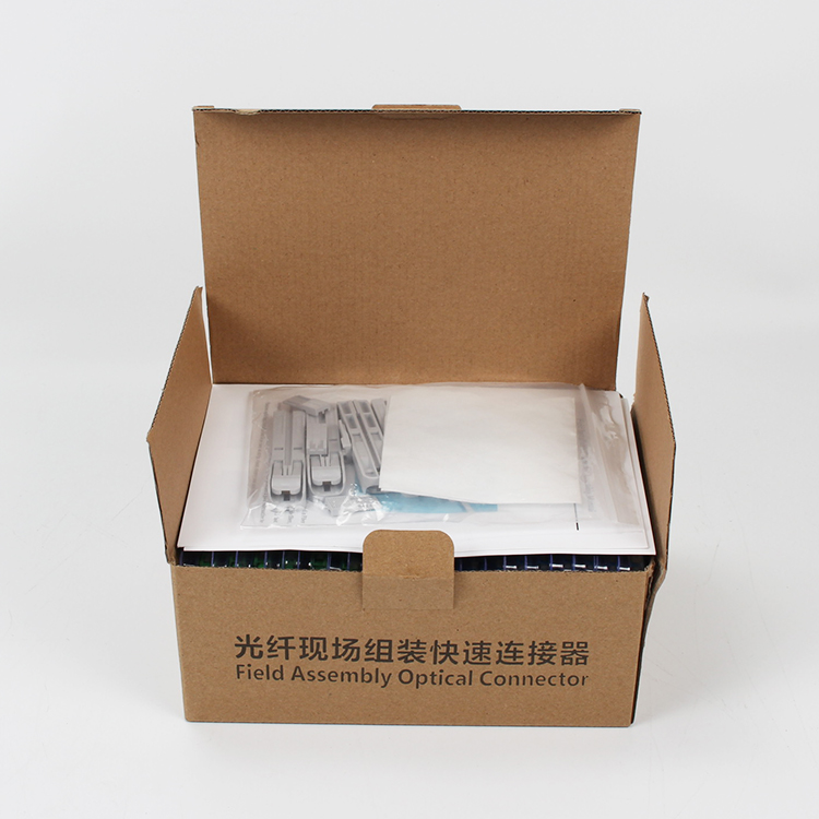 Image 5 - 100PCS/lot Embedded cold connector SC APC optical fiber Fast connector  FTTH quick assembly connector-in Fiber Optic Equipments from Cellphones & Telecommunications