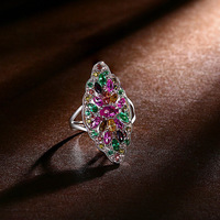 925 sterling silver jewelry smecta shining han edition fashion zircon zirconium color ring lady's hand
