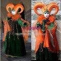 Горячая распродажа на заказ венецианский карнавал тыква оранжевый костюмы для италии традиционный сценическое включает шляпу