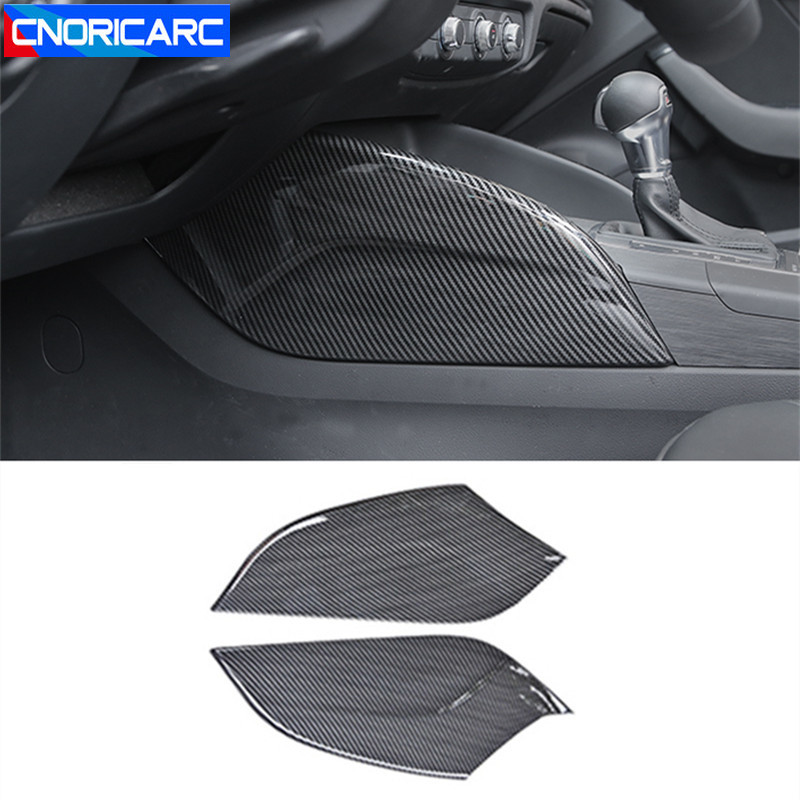 Center Console Both Side Water Cup Panel Cover Trim For Audi A3 8V 2014 2018 ABS