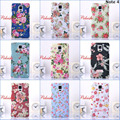 New Fashion Retro Chinese Style Flower Hard Plastic PC Luminous Case cover for Samsung Galaxy Note 4 N9100 Note4 with retail box