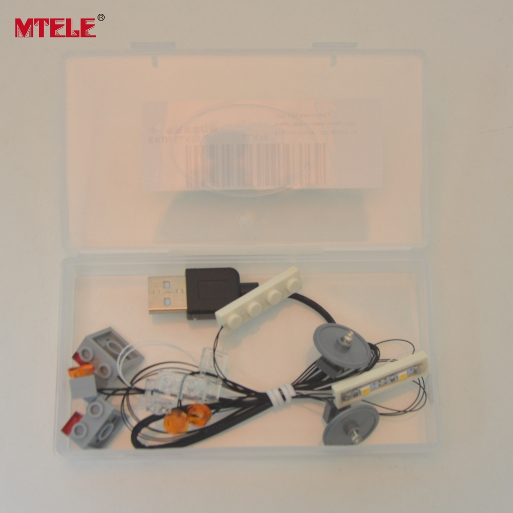 New Battery Box and USB hub With USB Port For LEGO installing Led Light Kit Sets