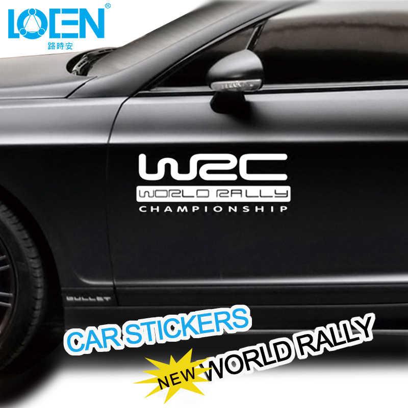 WRC campeonato del mundo de Rally, coche de carreras, pegatinas de diseño para puerta, pegatina deportiva de vinilo reflectante, Garland adhesivo con mango para Lada