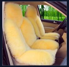 OKAYDA RU Car Seat cover Cushion natrual Australian sheepskin Universal sit accessories Long woolen with Short Send from Russian