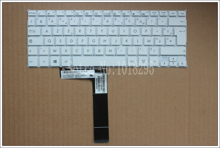 French FR Laptop Keyboard for ASUS F200 F200CA F200LA F200MA X200 X200C X200CA X200L X200LA X200M X200MA R202CA R202LA white все цены