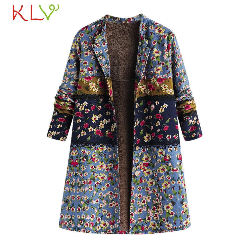 Women Jacket Winter Oversize 2018 Hooded Floral Pocket Long Plus Size Ladies Chamarra Cazadora Mujer Coat For Girls 18oct24 Women's Clothing