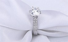 Classic Woman Ring Real Solid 925 Sterling Silver