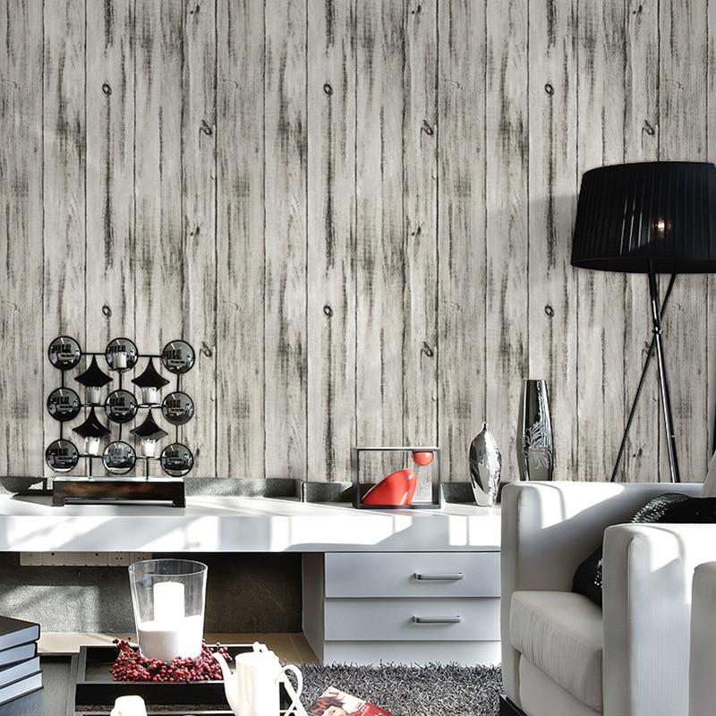 Beibehang 3D bois papier peint rayé rouleau Photo pour papier peint Mural décoratif salon chambre 3d papier peint papel de parede