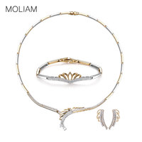 MOLIAM Luxury Jewelry Sets for Women Ladies High Quality Cubic Zirconia Necklace Earrings Bracelet Set Drop Shipping MLT811