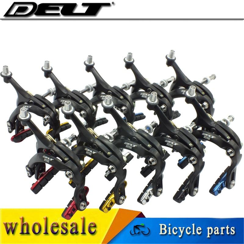 1set Fixed gear bike Road Bicycle Bike Brake C Caliper ClipCaliper - Sidefor 53-73mm arm parts component CNC shoes wholesale