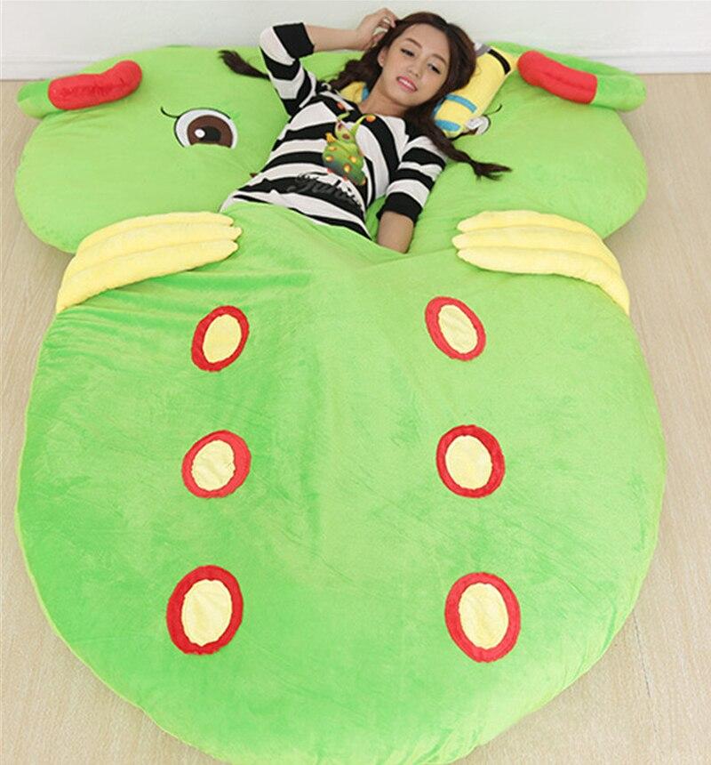 Fancytrader Anime Stuffed Giant Animals Worm Plush Bed Sofa <font><b>Mattress</b></font> Tatami Pad Bedding Set Mat Memory Foam