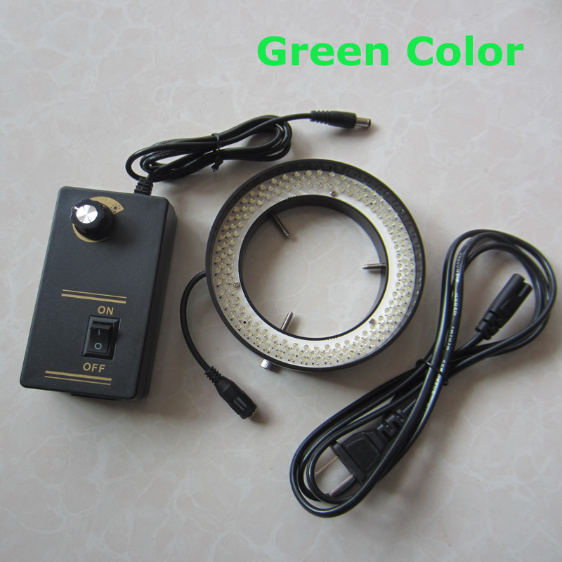 Green Color Light - 156pcs Adjuatable Medical Stereo Microscope Illuminated LED Ring Bulb Lamp 110V-220V Inner Diameter 81mm