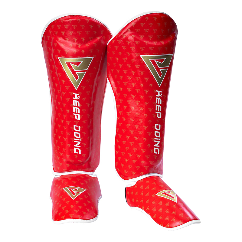 BN DEFENDER Muay Thai Shin Guards Upgrade PU KickBoxing Ankle Protector MMA Training Leg Protection Boxing