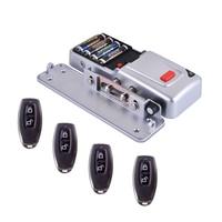 DIY сухой Аккумулятор беспроводной пульт дистанционного контроля доступа системы/Электрические дистанционного управления замок двери с 4 П