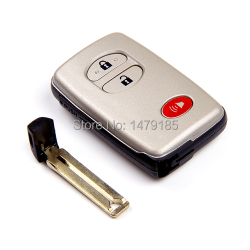 chip Remote FOB Uncut Key Case Shell Toyota 4 Runner Land Cruiser Venza Insert Small Blade - Brothers Union rs store