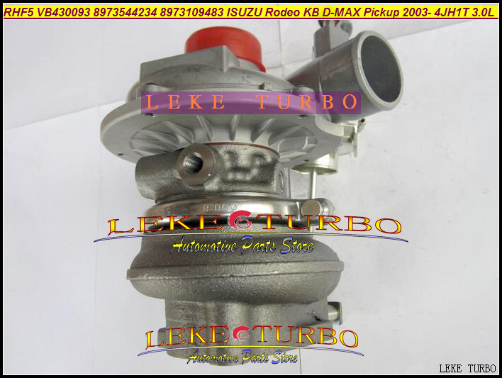Free Ship RHF5 8973544234 8973109483 Water cooled Turbocharger For ISUZU Rodeo KB D-MAX Pickup 2003- 4JH1T 4JH1T-C 3.0L 130HP free ship turbo for isuzu d max rodeo pickup 2004 4ja1 4ja1 l 4ja1l 4ja1t 2 5l rhf5 rhf4h vida va420037 8972402101 turbocharger