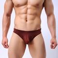 Sheer underwear hipster mens ice cetim de seda lingerie sexy homens cuecas baixo crescimento dos homens gay underwear sem costura quente barato