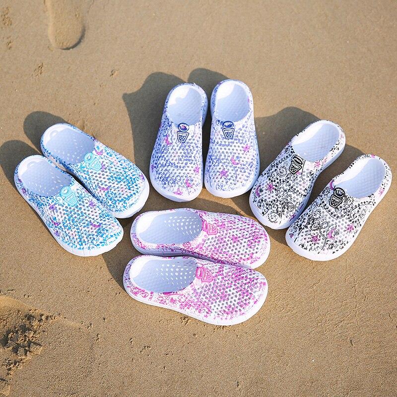 Summer Sandals Women Shoes Beach Sandals Crocse Women Outdoor Summer Beach Aqua Shoes Quick Drying Wading Sneaker