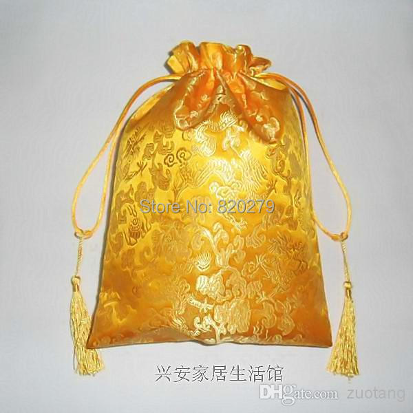 Decorative Dragon Gold Candy Bags Luxury Extra Large Chinese Style Silk Drawstring Tassel Gift Pouches Birthday Wedding Festive On Aliexpress Alibaba