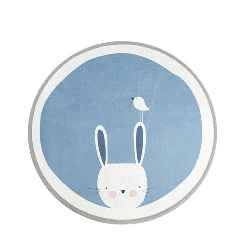Tapis nordique rond 100 CM pour enfants tapis de jeu bébé Gym activité lapin/ours/lettre tapis rampants tapis de sol pour enfants antidérapant