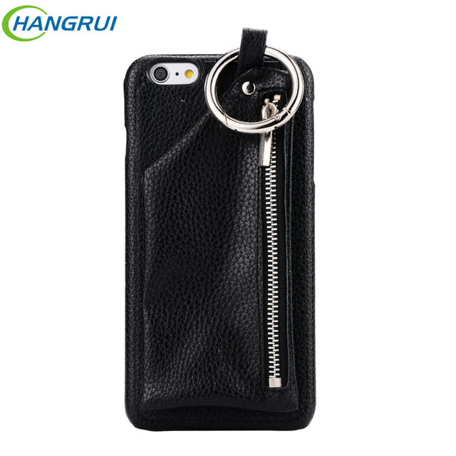 quality design a506f 75dfb US $7.58 15% OFF|Hangrui For iphone 6 Case Leather Cases + PC Ring Buckle  Wallet Phone Bag Zipper Girls Handbag For iphone 6S 6 7 Plus Back case-in  ...