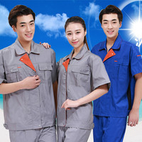 Men And Women Scrub Sets Unisex Safety Clothes Coverall Suits Work Wear Automobile Labor Insurance Top