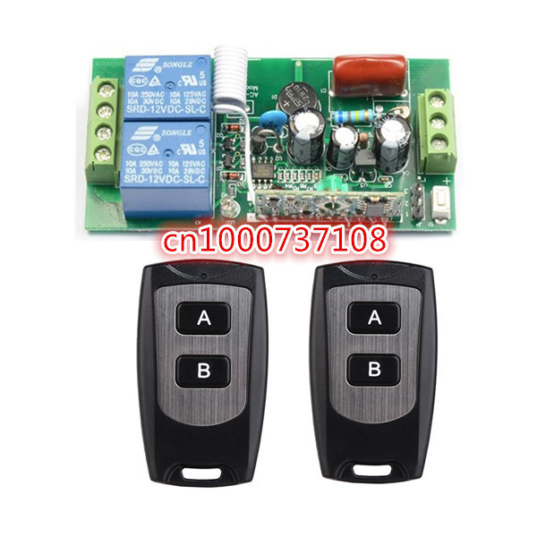 220V 2CH Wireless Remote Control Switch Receiver Board & Transmitter Remote Controller 10A output state is adjustable 315/433MHZ 220v 30a wireless remote control switch receiver transmitter 315 433mhz