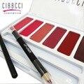 CIBBCCI Lipstick 6 Color Professional Multicolor lip Beauty Makeup Palette Lips Tint Lipstick Cosmetic palette