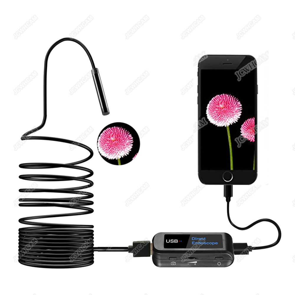 480 P HD Directe Endoscope Caméra Endoskop 5.5mm Lentille Pour Android Iphone Dispositif, Adapté Pour N'importe Quel Modèle, Mini Endoscope