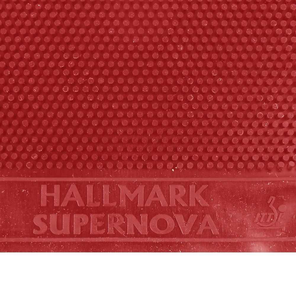 HALLMARK Supernova (No ITTF) длинный Pips-Out Настольный теннис Красная резина без губки (Topsheet, OX)