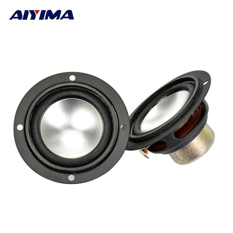 Aiyima 2Pcs Audio Tweeter Speakers Portable Aluminum Bottom PU Neodymium Magnetic Full Range Speaker 2.5Inch 6 Ohm 6W For SAMCO все цены