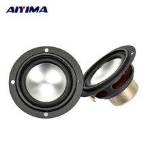 2Pcs Audio Tweeter Speakers Portable Aluminum Bottom PU Side Neodymium Magnetic Full Range Speaker 2.5Inch 6 Ohm 6 W For SAMCO цена