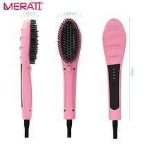 Best Buy Ceramic Hair Straightener Comb Brush Electric Hair Massager Anti-Scald Tool lcd hair straightening brush