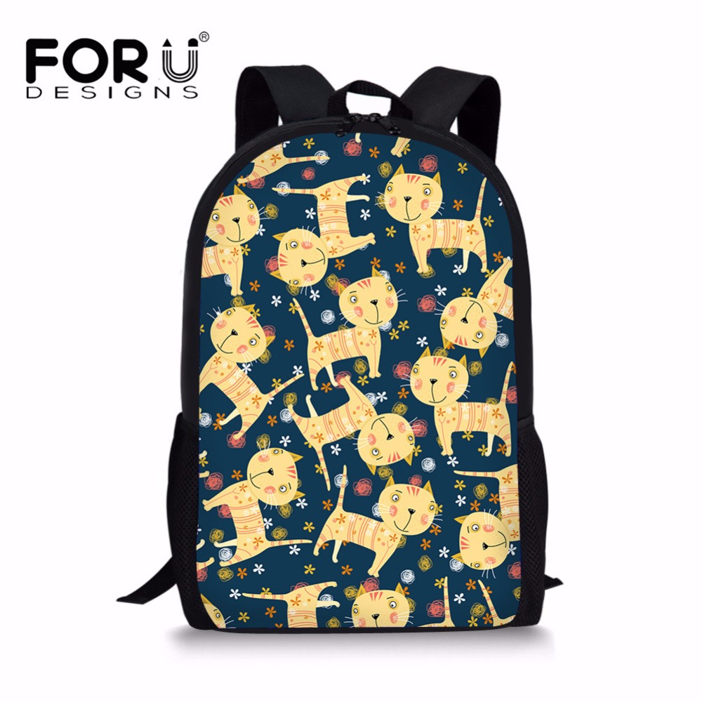 Luggage & Bags Sincere Forudesigns Novelty Cats Schoolbag Primary School Girls Special Pattern Design Cute Creative Children Mochila Infantil Custom