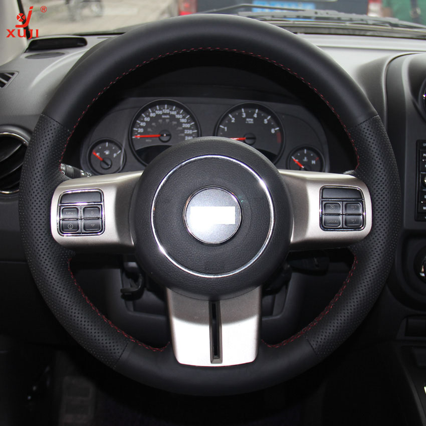 2013 Jeep Patriot Interior: XuJi Black Genuine Leather Steering Wheel Cover For Jeep