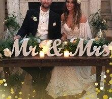 De Madera Sr. Y Sra. Signo de boda, números de mesa de boda letras elegante cariño y recepción MESA signo decoración de la boda
