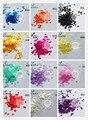 12 colores forma de estrella nacarado ultra-delgada resistente a los disolventes Glitter - tamaño : 3 MM