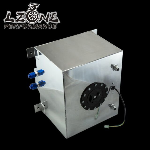 LZONE RACING - 30L Aluminium Fuel Surge tank mirror polish Fuel cell with cap/foam inside, with sensor JR-TK68 wlr racing 30l aluminium fuel surge tank mirror polished fuel cell foam inside without sensor wlr tk67
