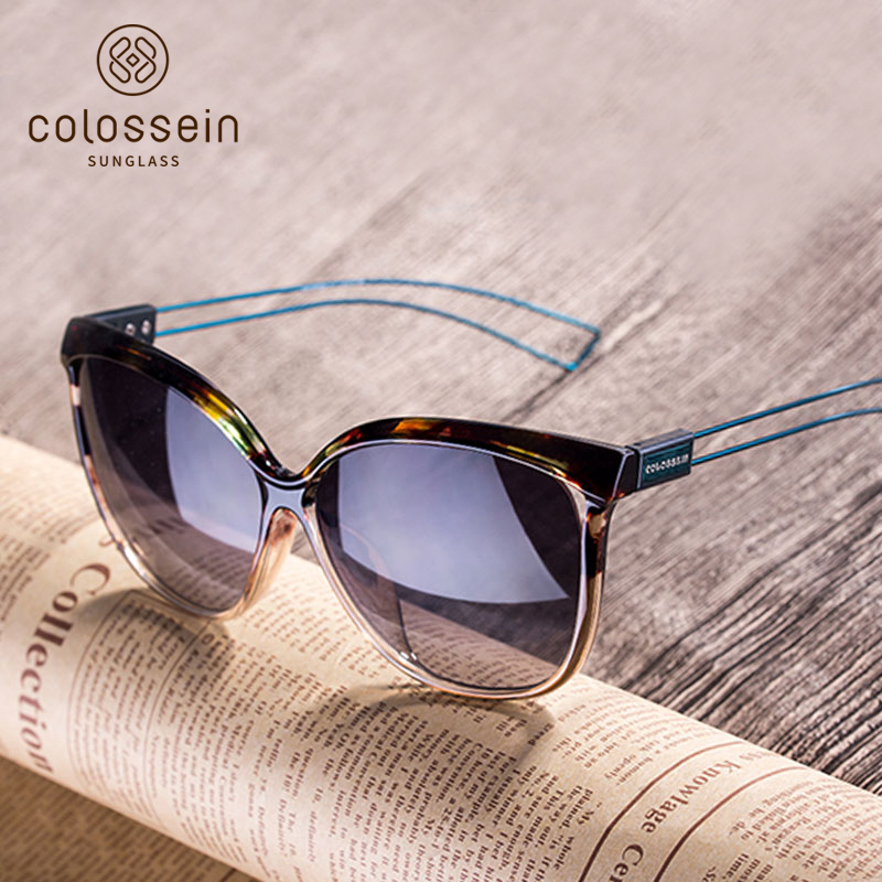 COLOSSEIN Cat Eye Sunglasses Women Brand Designer UV400 2018 Fashion Sun Glasses For Women Oculos De Sol Outdoor Eyewear