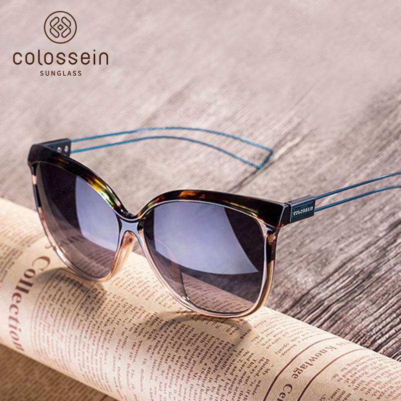 COLOSSEIN Cat Eye Sunglasses Women Brand Designer UV400 2018 Fashion Sun Glasses For Women Oculos De Sol Outdoor Eyewear