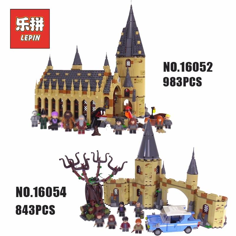 Lepin Film Poudlard Grande Salle Tour Harry Magique Potter Château 75954 75953 Blocs de Construction Compatible Legoinglys Garçon Jouets