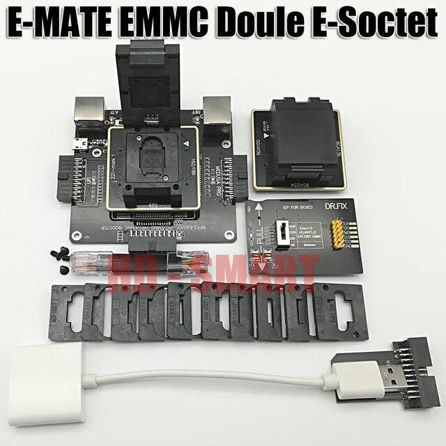 E MATE box Emate box podwójne gniazdo e socket BGA153,169,162,186,221,529,100,136,168,254 UFI box, MEDUSA EASY JTAG BOX