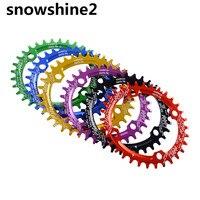 Snowshine2 #3522 104BCD 34ครั้งเบาอัลลอยด์จักรยานจักรยานChainringรูปไข่กลมChainwheelขายส่ง