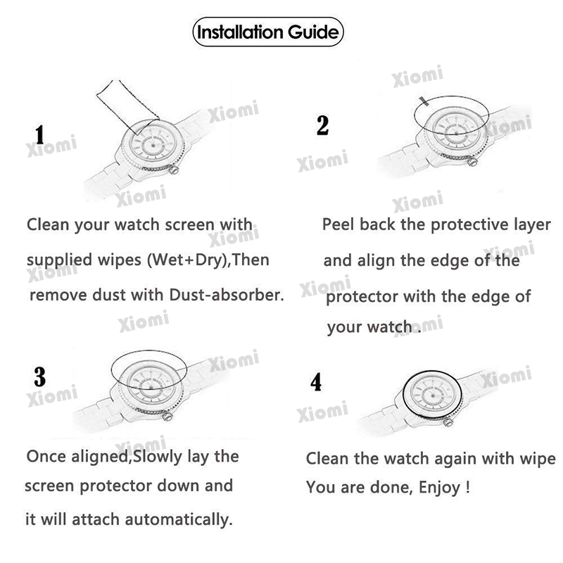 4Pcs/Lot(2Glasses+2Wipes)Tempered Glass Protective Film for Women Fashion Fitness Bluetooth Smartwatch OLED Q8  Screen Protector