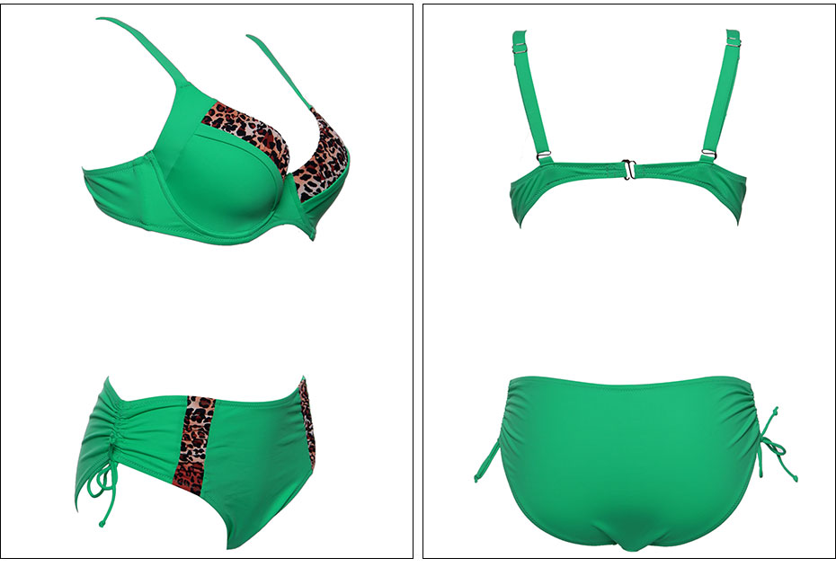 Andzhelika Bikinis Women Swimsuit Newest Sexy Leopard Patchwork Bikinis Set Plus Size Swimwear Maillot de bain Femme Biquini 16
