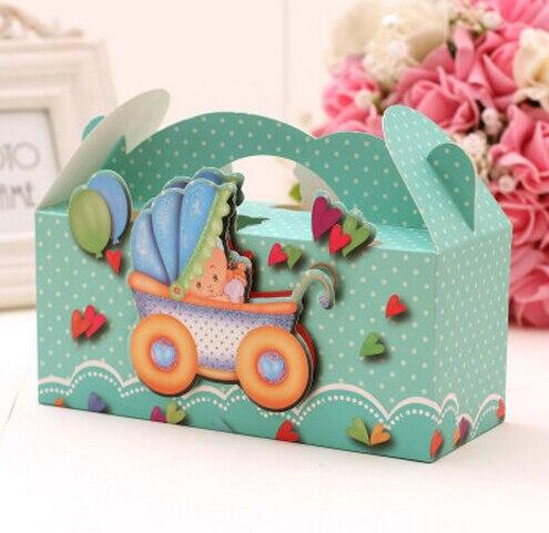 10pcs Creative Cartoon Baby Chocolate Candy Box Candy Bag Baby